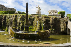 Gardens of Villa d'Este in Tivoli - Italy. Fontana della Rometta in the Gardens of Villa d'Este Stock Photography