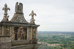 The gardens of Villa D'este. Tivoli, Italy Royalty Free Stock Images