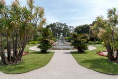 Gardens of the Villa Ephrussi de Rothschild Stock Photos