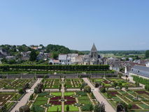 Gardens of Villandry Castle Royalty Free Stock Image