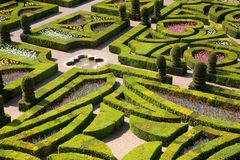 Gardens of Villandry Stock Photo