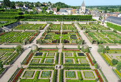 Gardens of Villandry - France Royalty Free Stock Photos