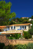 Gardens and villas on French Riviera Stock Photos