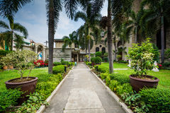 Gardens and walkway outside the Manila Cathedral, in Intramuros, Stock Photos