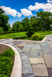 Gardens and walkways at Druid Hill Park, Baltimore, Maryland. Stock Image