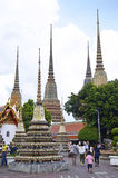 The Wat Pho. Gardens of the Wat Pho in Bangkok, Thailand royalty free stock photos