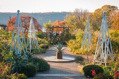 Gardens at Wave Hill Public Gardens in The Bronx, New York City.  stock images