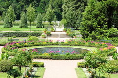 Gardens of Weesenstein Castle royalty free stock images