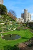Gardens at Windsor Castle, England. The Windsor Castle in the English county of Berkshire in the UK on April 27, 2008 Stock Photo