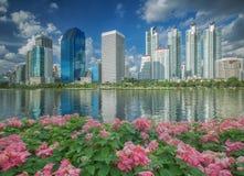 Gardent dans la ville de Bangkok Photo libre de droits
