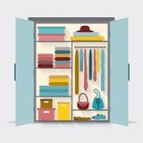 Garderob för torkdukar Arkivbilder