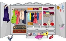 Garderobe Stock Foto's