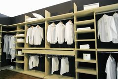 Garderobe. White short in the garderobe Royalty Free Stock Photos