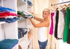 garderobe stock foto