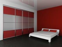 Garderobe en bed vector illustratie