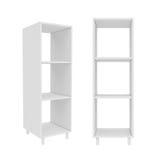 Garderobe lokalisiert auf weißem Hintergrund, Wiedergabe 3D Lizenzfreie Stockfotografie