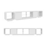 Garderobe op Witte Achtergrond, het 3D teruggeven wordt geïsoleerd die Stock Foto