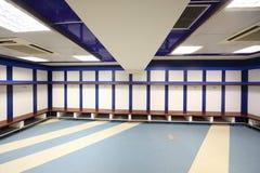 Garderobe in Santiago Bernabeu Stadium Stockbild