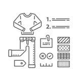 Garderobuppsättning, modehandbok, kompletterande kläder, tillfälliga kläder, färgval, bra dräktkombination vektor illustrationer