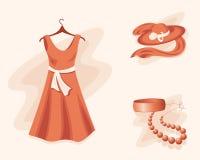 garderoby kobieta royalty ilustracja