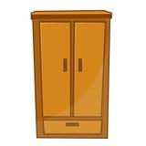 Garderoby odosobniona ilustracja ilustracji