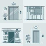Garderoby przebieralni windy wewnętrzny salowy en ilustracji