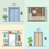 Garderoby przebieralni windy wewnętrzny salowy en ilustracja wektor