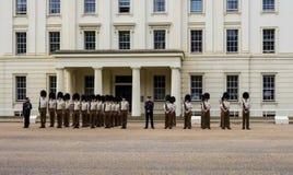 Gardes de cheval à Londres sur le défilé de matin Photos stock