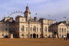 Gardes de cheval construisant, Londres Images libres de droits