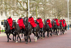 Gardes de cheval de Londres Photographie stock