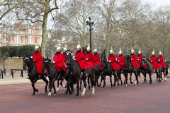 Gardes de cheval de Londres Images libres de droits