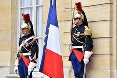 Gardes de Matignon d'hôtel d'honneur républicaines Photos libres de droits