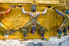 Gardes du temple de l'émeraude Images libres de droits