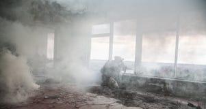 Gardes forestières d'armée d'Etats-Unis dans l'action Images stock