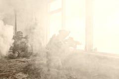 Gardes forestières d'armée d'Etats-Unis dans l'action Photos stock