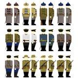 Gardes frontière d'uniformes dans l'Union Soviétique Photo stock