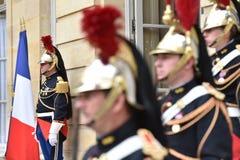 Gardes républicaines de Matignon d'hôtel de hono Image stock