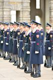 Gardes royales au château de Prague Images libres de droits