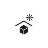 Gardez à partir du symbole direct de lumière du soleil Images stock