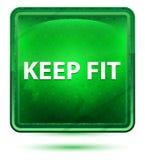 Gardez adaptent le bouton vert clair au néon de place illustration libre de droits