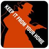 Gardez-la de votre graphisme à la maison Photos libres de droits