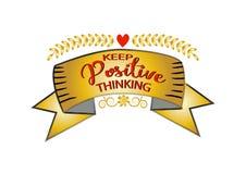Gardez la pensée de positif Photos libres de droits
