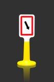 Gardez le bon poteau de signalisation Photo stock