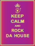 Gardez le calme et basculez la maison du DA illustration stock