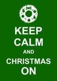 Gardez le calme et le Noël dessus illustration de vecteur