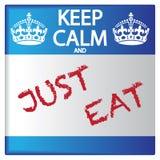 Gardez le calme et mangez juste l'autocollant illustration libre de droits