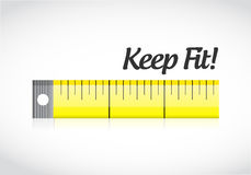 gardez le concept de mesure de bande d'ajustement Image libre de droits