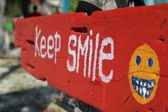 gardez le conseil de sourire photo libre de droits