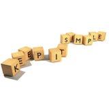 Gardez-le les cubes simples Image libre de droits