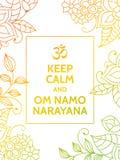 Gardez le narayana de calme et de namo de l'OM Photo libre de droits